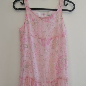 Girl's Cherokee Pink Floral Print Dress